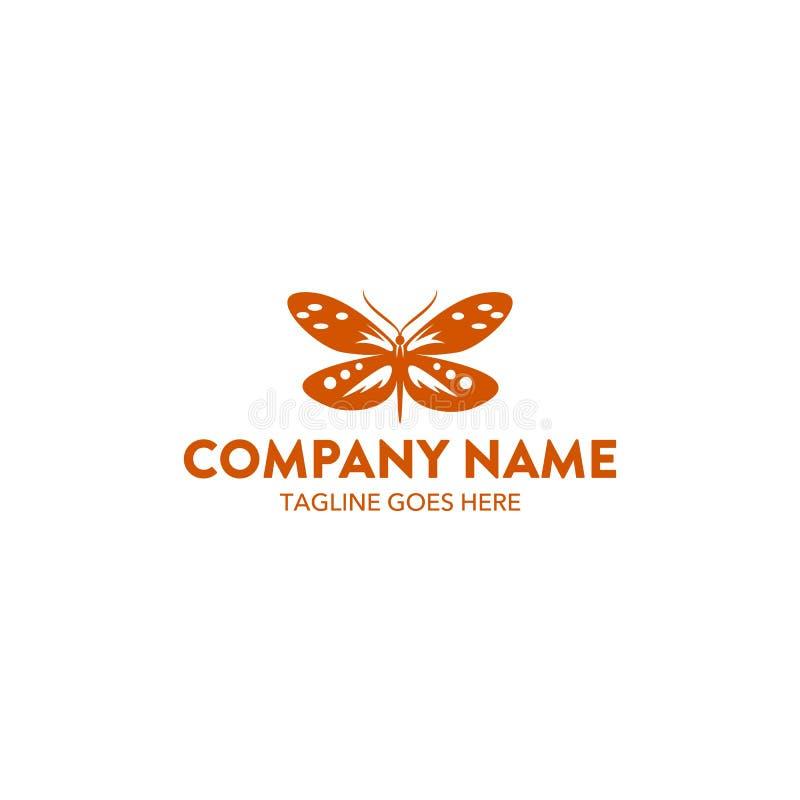 Molde original do logotipo da borboleta Vetor editable ilustração do vetor