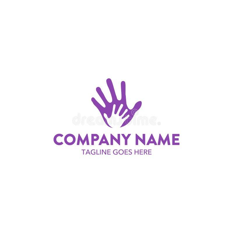 Molde original do logotipo da caridade Vetor editable ilustração stock