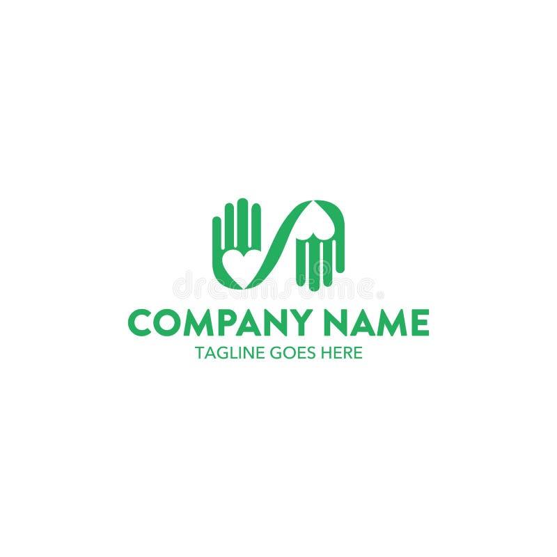 Molde original do logotipo da caridade Vetor editable ilustração royalty free
