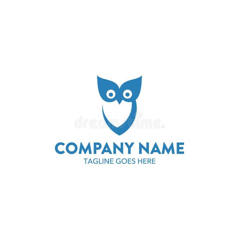 Molde original do logotipo da coruja Vetor editable ilustração royalty free