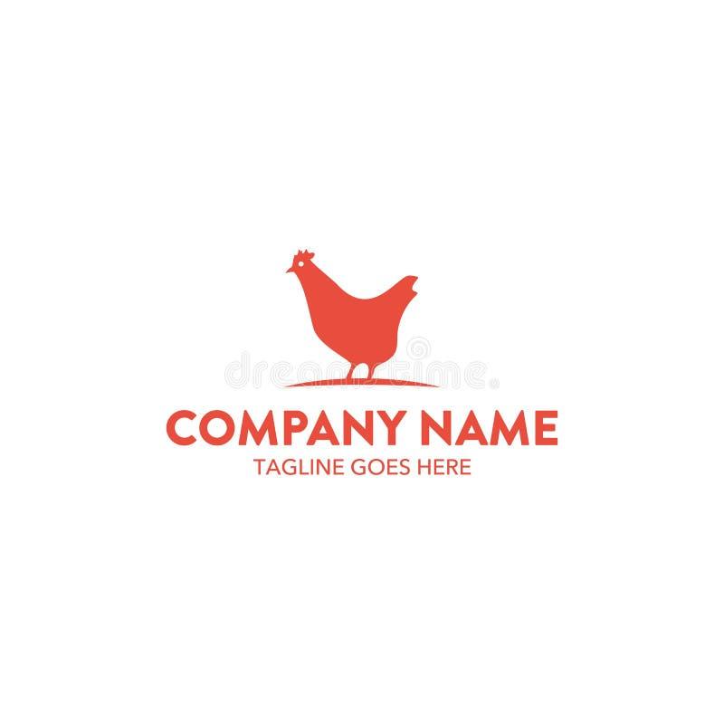 Molde original do logotipo da galinha Vetor editable ilustração royalty free