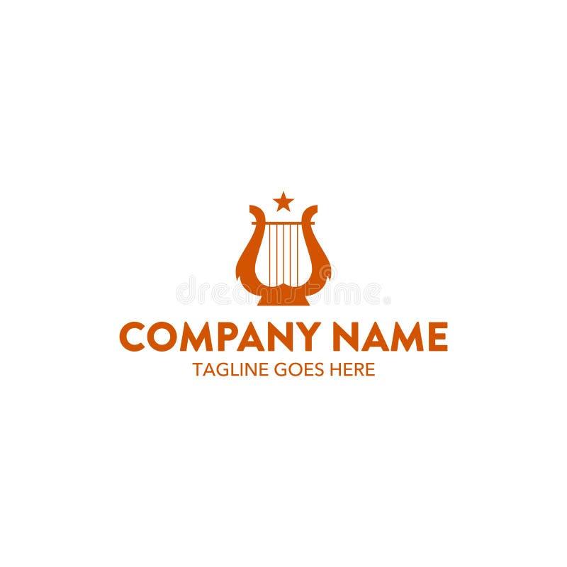 Molde original do logotipo da música Vetor editable ilustração stock