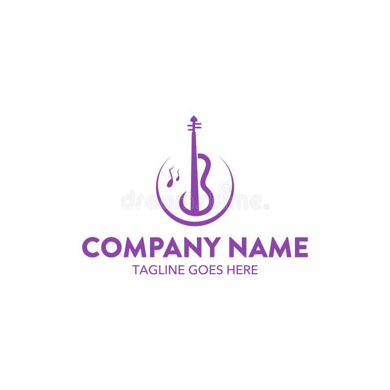 Molde original do logotipo da música Vetor editable ilustração royalty free
