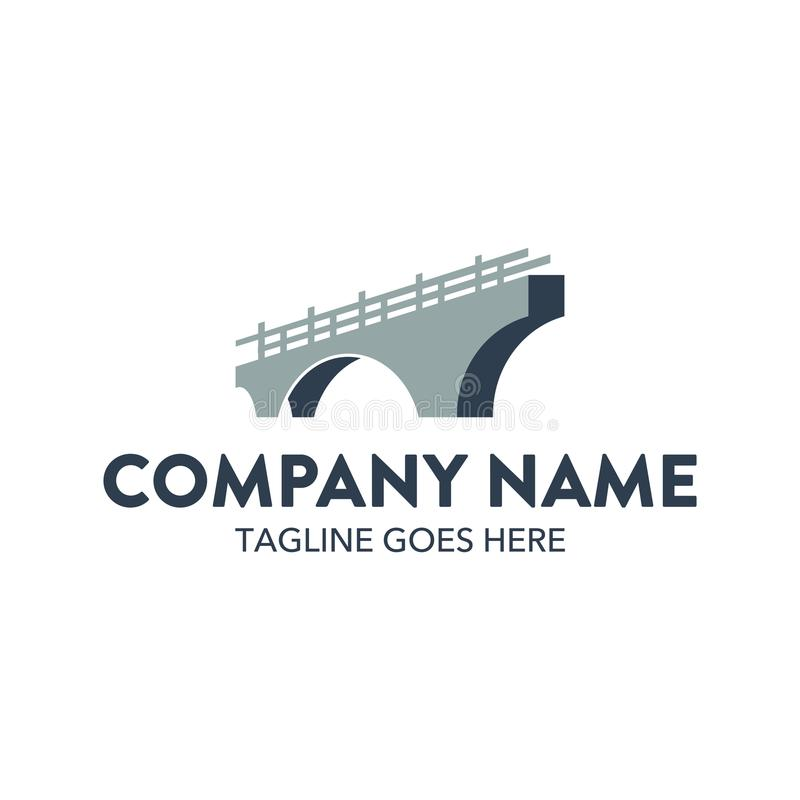 Molde original do logotipo da ponte Vetor editable ilustração stock