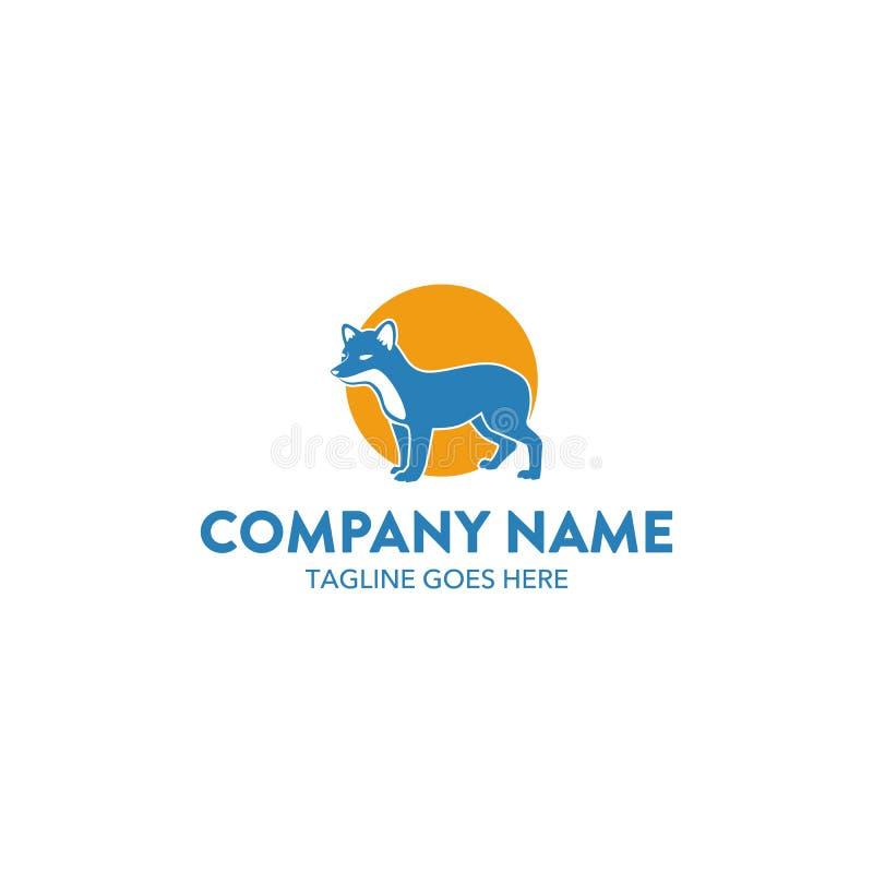 Molde original do logotipo da raposa Vetor editable ilustração do vetor