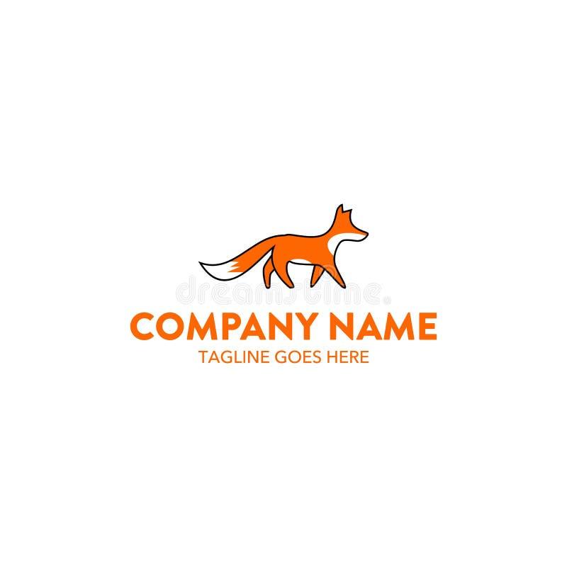 Molde original do logotipo da raposa Vetor editable ilustração stock