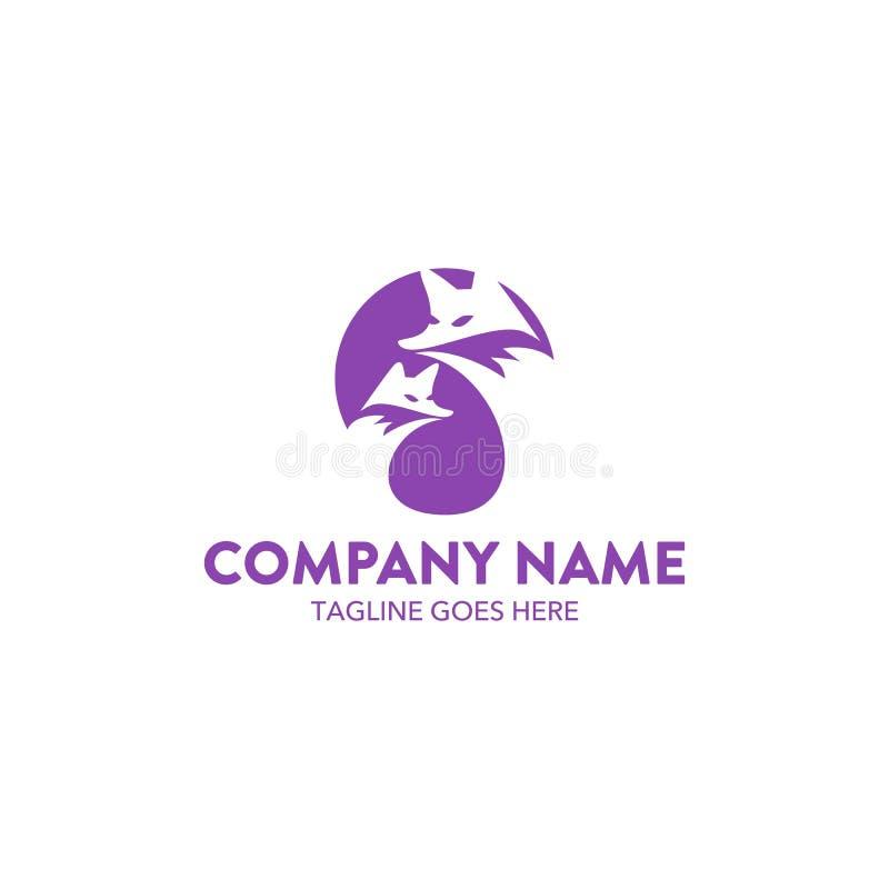 Molde original do logotipo da raposa Vetor editable ilustração royalty free