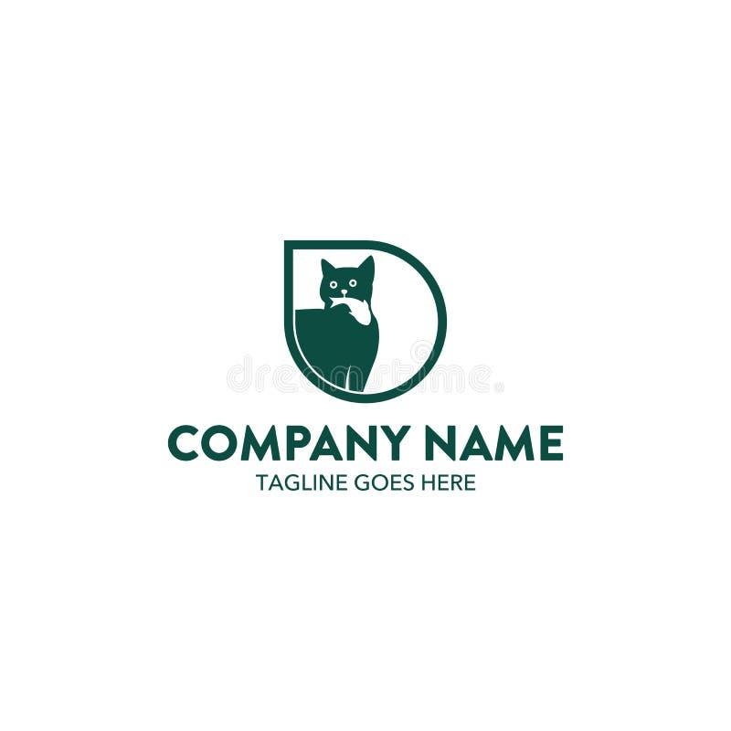 Molde original do logotipo do gato Vetor editable ilustração royalty free