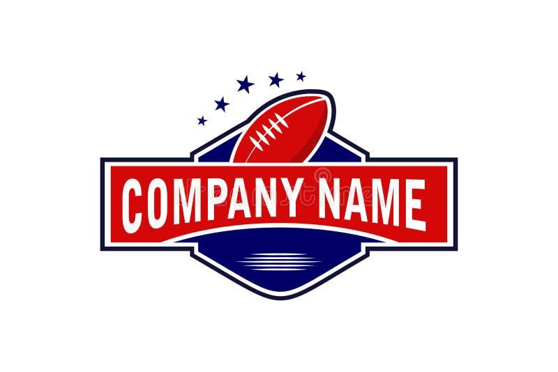 Molde original do logotipo do rugby do esporte ilustração stock