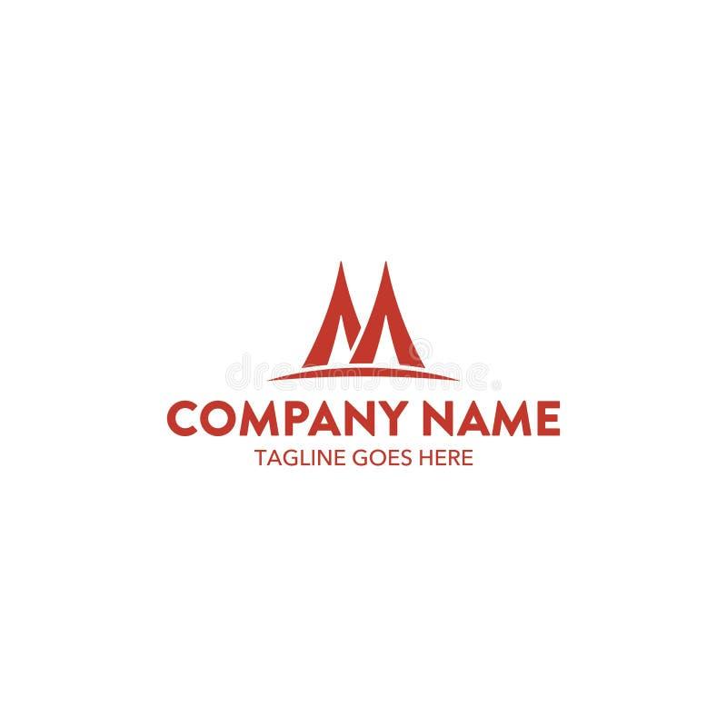Molde original do logotipo do seguro Vetor editable ilustração stock