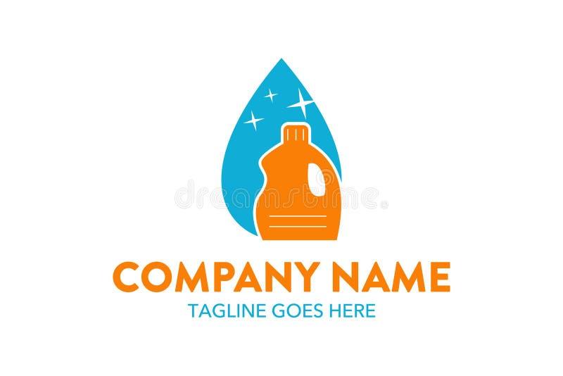Molde original do logotipo do serviço da limpeza e de manutenção ilustração stock