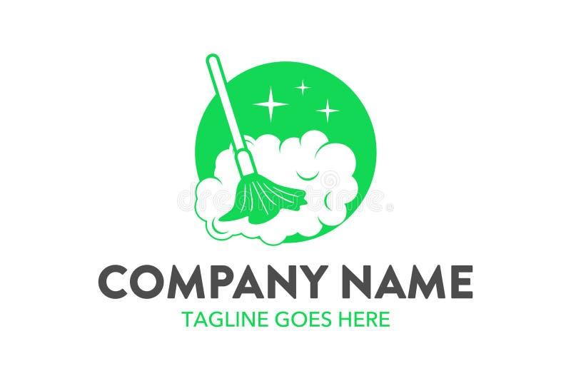 Molde original do logotipo do serviço da limpeza e de manutenção ilustração royalty free