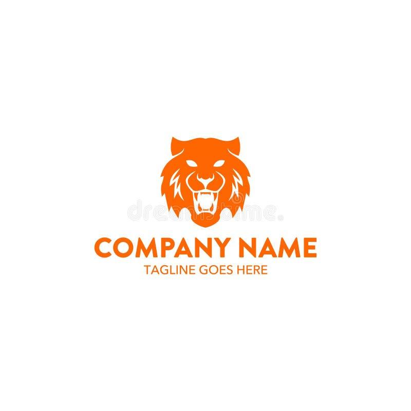 Molde original do logotipo do tigre Vetor editable ilustração royalty free