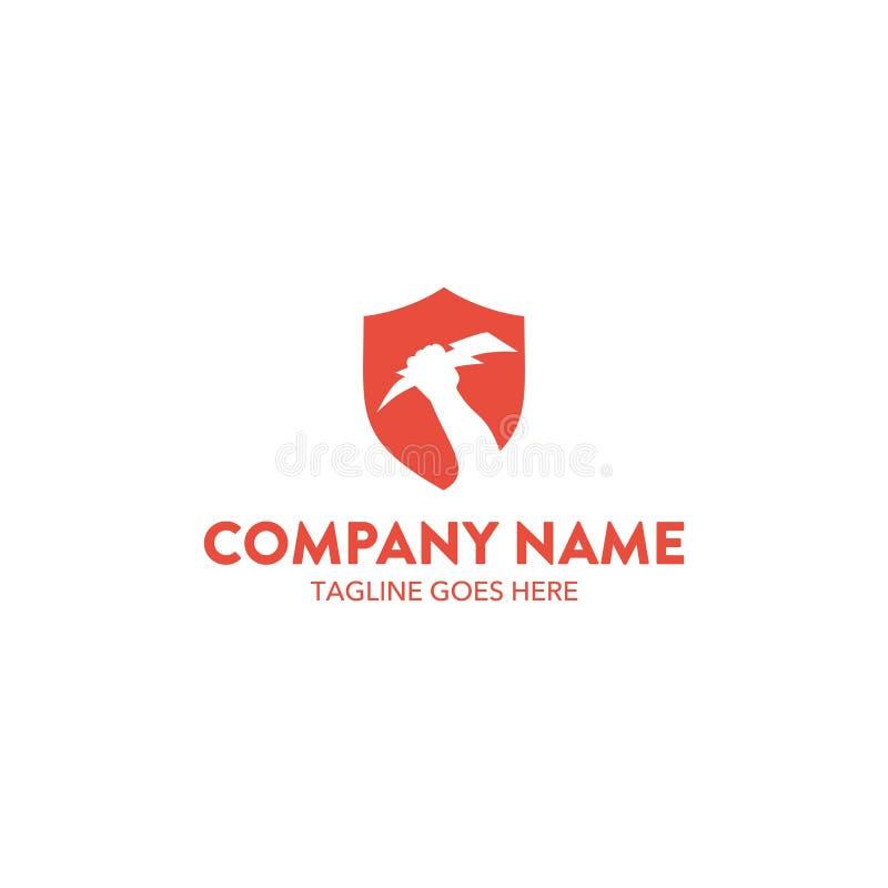 Molde original do logotipo do zeus Vetor editable ilustração stock