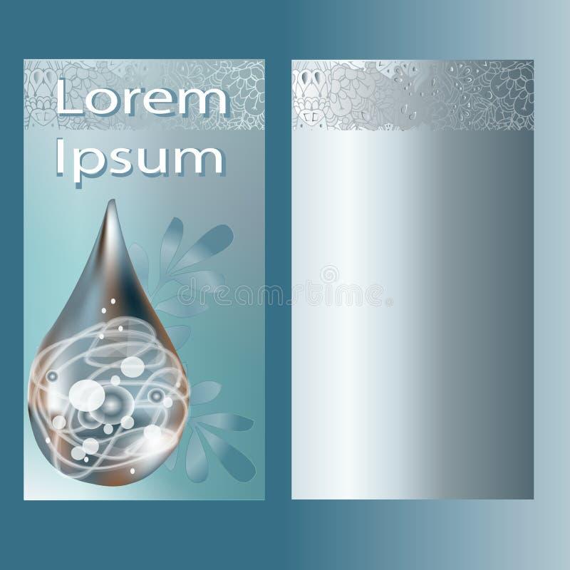 Molde original para a beleza e a brochura dos termas ilustração royalty free
