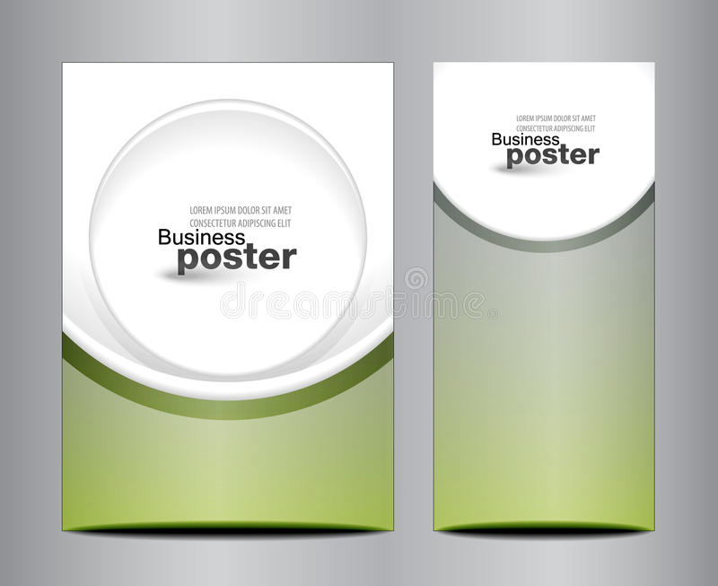 Molde ou bandeira do projeto de negócio do folheto ilustração stock