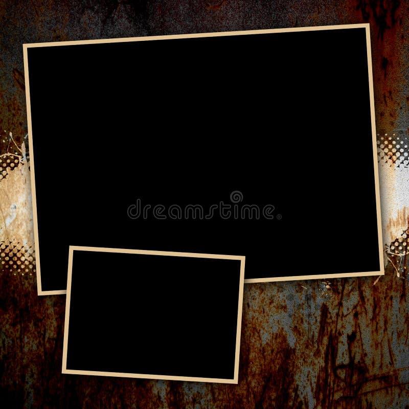 Molde oxidado sujo da página ilustração stock