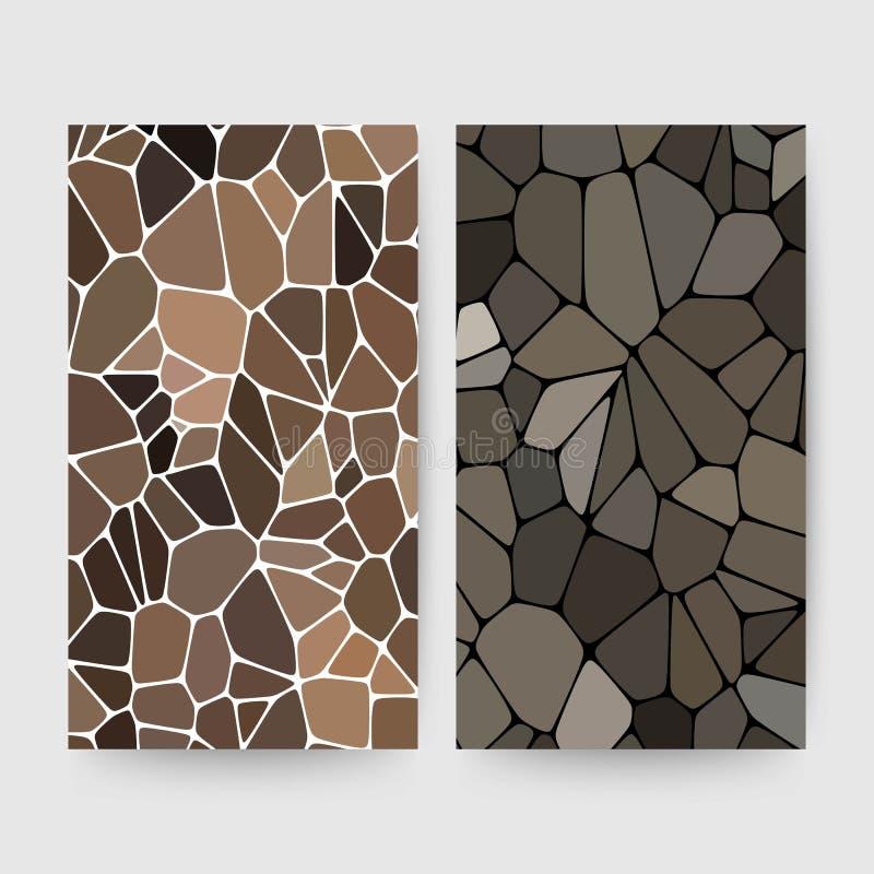 Molde para anunciar materiais de construção Brown e seixos cinzentos - Vektorgrafik ilustração stock