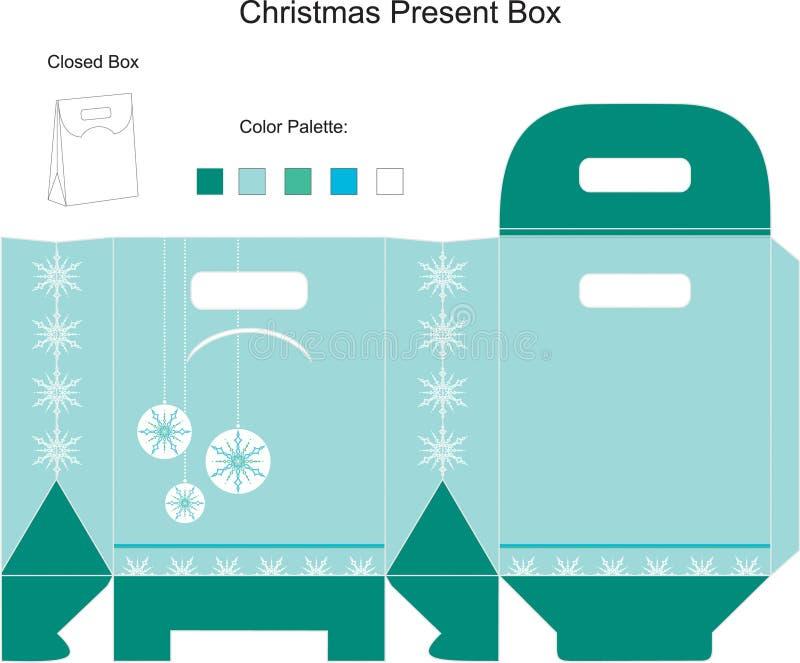 Molde para a caixa de Natal ilustração royalty free