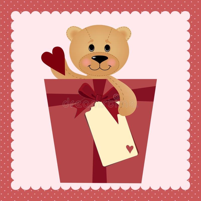 Molde para cartão de cumprimentos do Valentim ou do casamento ilustração stock