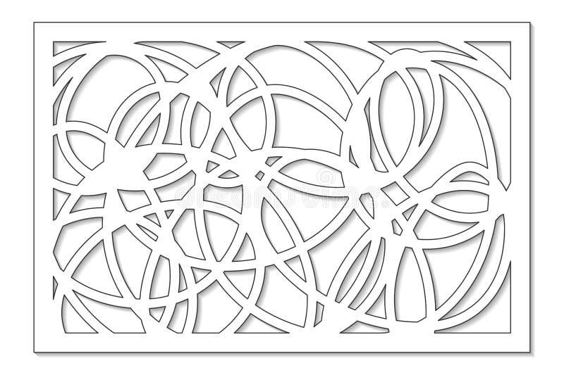 Molde para cortar Linha abstrata, teste padrão geométrico Corte do laser Ajuste o 2:3 da relação Ilustração do vetor ilustração royalty free