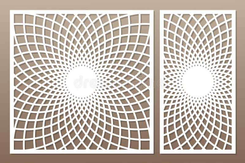 Molde para cortar Mandala, teste padrão do Arabesque Corte do laser jogo ilustração stock