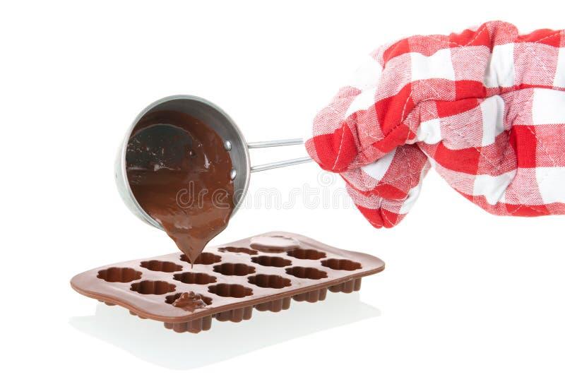 Molde para fazer o chocolate fotos de stock