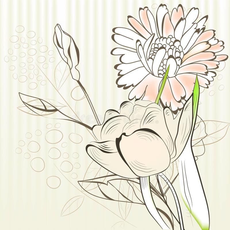 Molde para o cartão decorativo ilustração do vetor