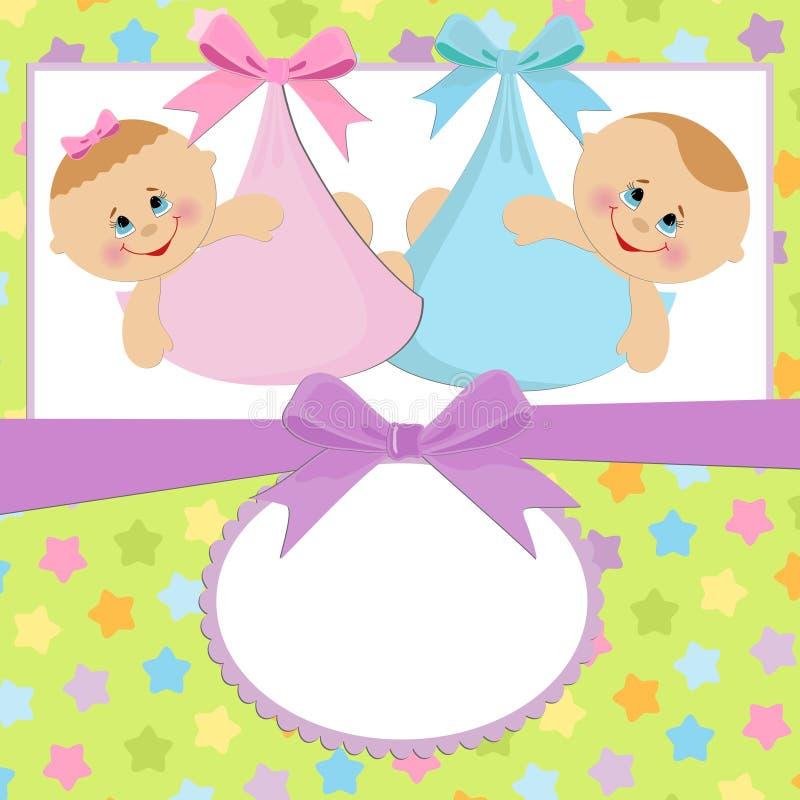 Molde para o cartão do bebê ilustração royalty free