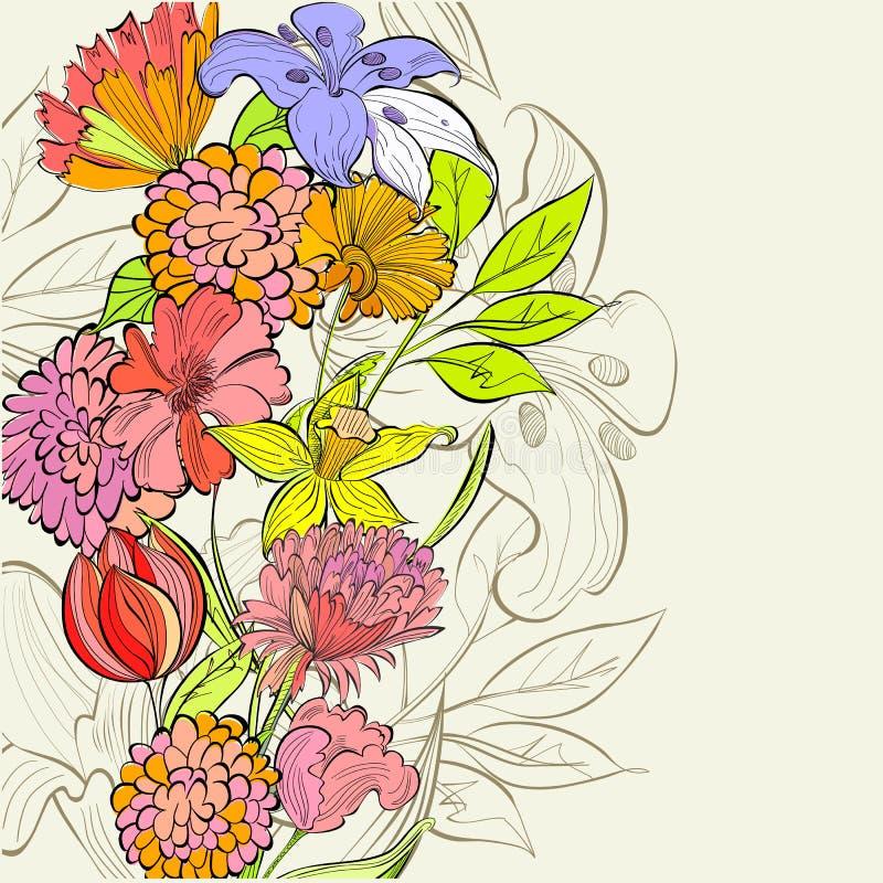 Molde para o cartão floral ilustração royalty free