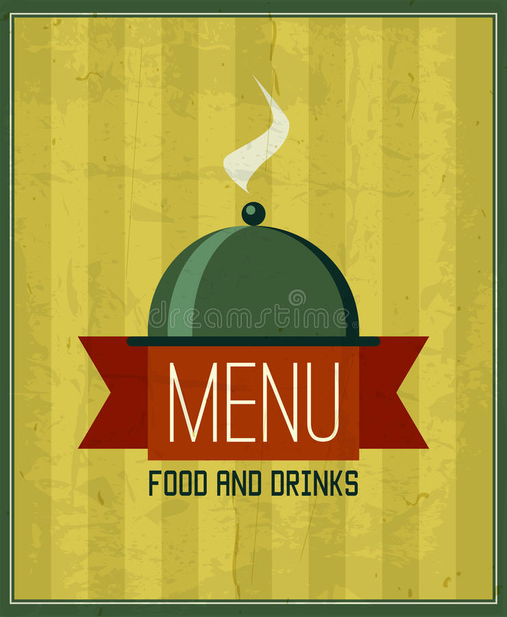 Molde para seu restaurante, café do projeto do menu do vintage, restaurante ilustração stock