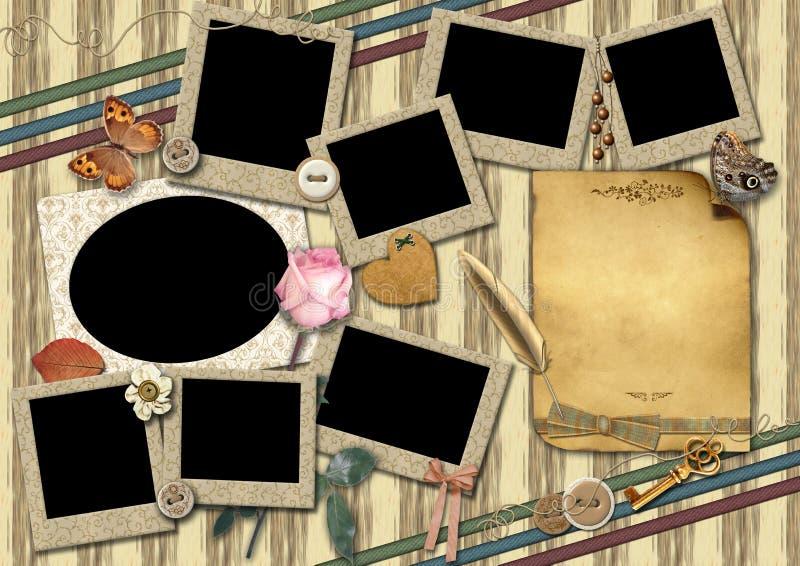 Molde para uma foto da colagem. ilustração do vetor