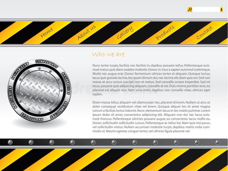 Molde perigoso do Web site ilustração stock