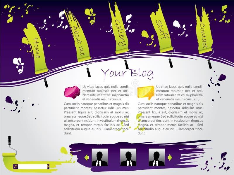 Molde pintado do Web site ilustração royalty free