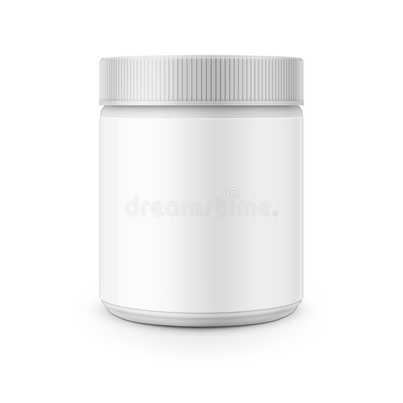 Molde plástico branco do cartucho para o removedor de mancha ilustração stock