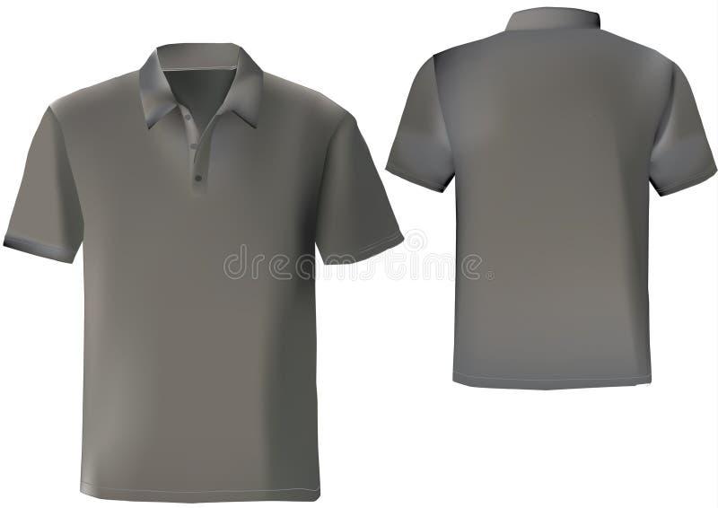 Molde preto do projeto da camisa de polo ilustração royalty free
