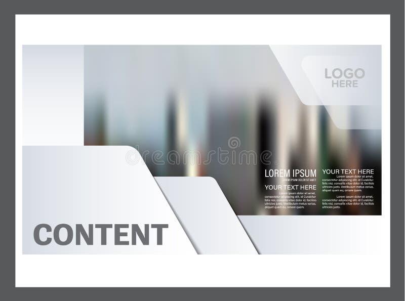 Molde preto e branco do projeto da disposição do folheto Fundo moderno da apresentação da tampa do folheto do inseto do informe a ilustração royalty free