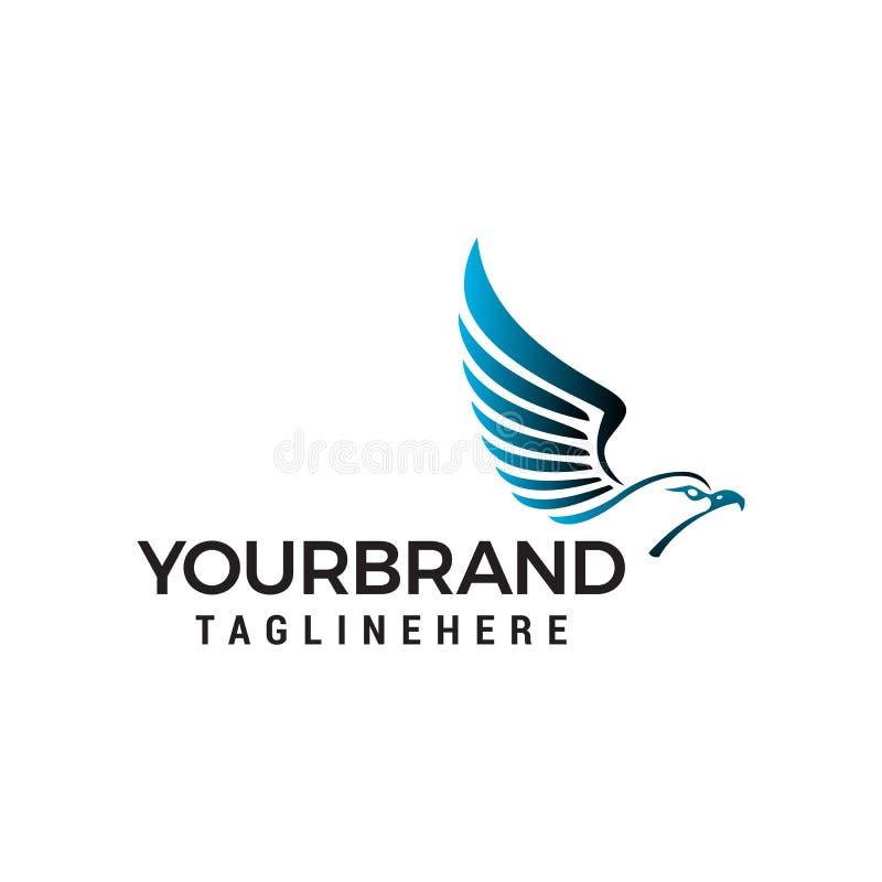 Molde principal do conceito de projeto do logotipo das asas da águia ilustração do vetor