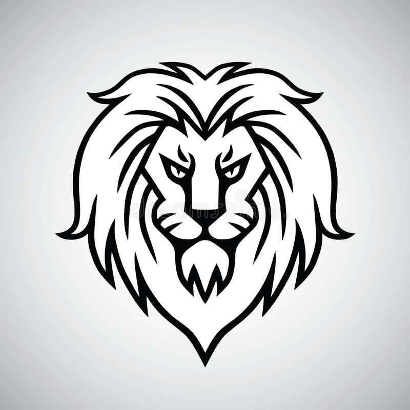 Molde principal do logotipo do leão ilustração stock