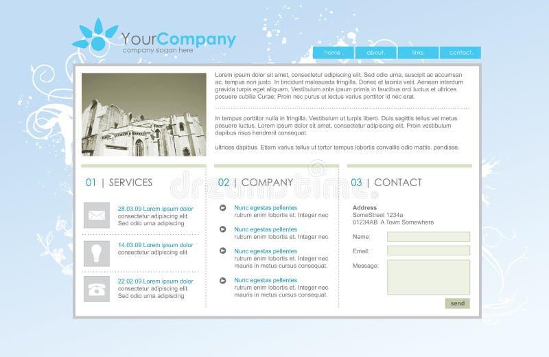 Molde profissional do Web site ilustração royalty free