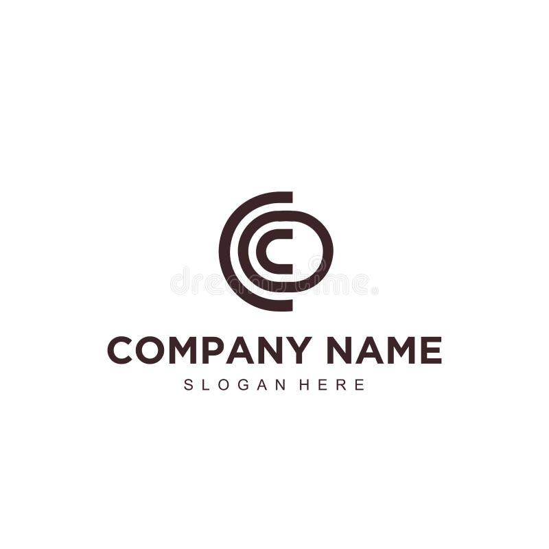 Molde profissional moderno minimalistic simples do ilustrador do EPS do vetor da letra c do projeto do logotipo ilustração stock
