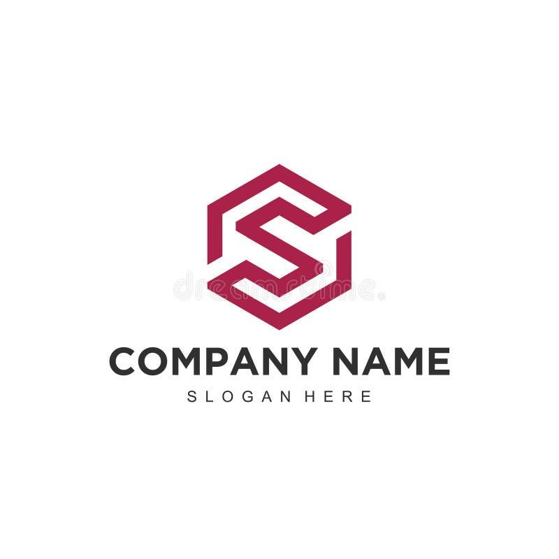 Molde profissional moderno minimalistic simples do ilustrador do EPS do vetor da letra S do projeto do logotipo ilustração royalty free