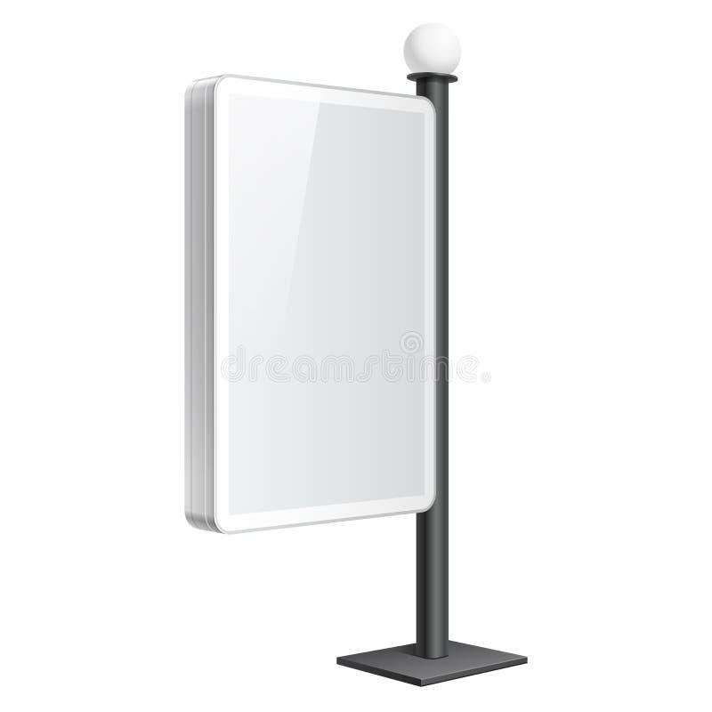 Molde realístico da caixa leve no fundo branco ilustração stock