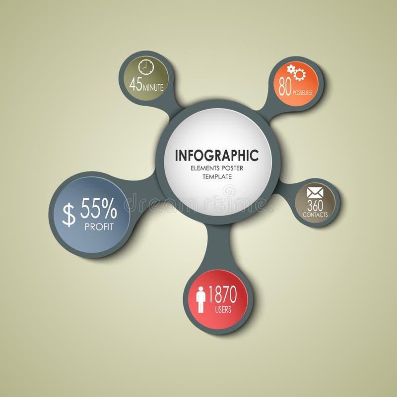 Molde redondo abstrato do gráfico da informação do negócio ilustração stock