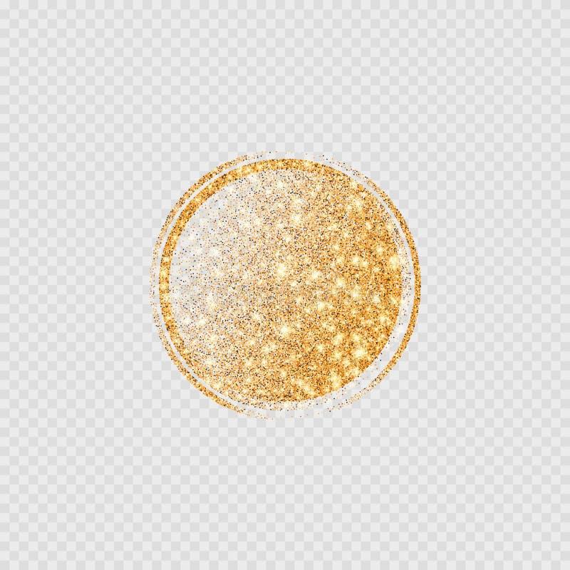 Molde redondo da bandeira do brilho dourado brilhante do vetor ilustração royalty free