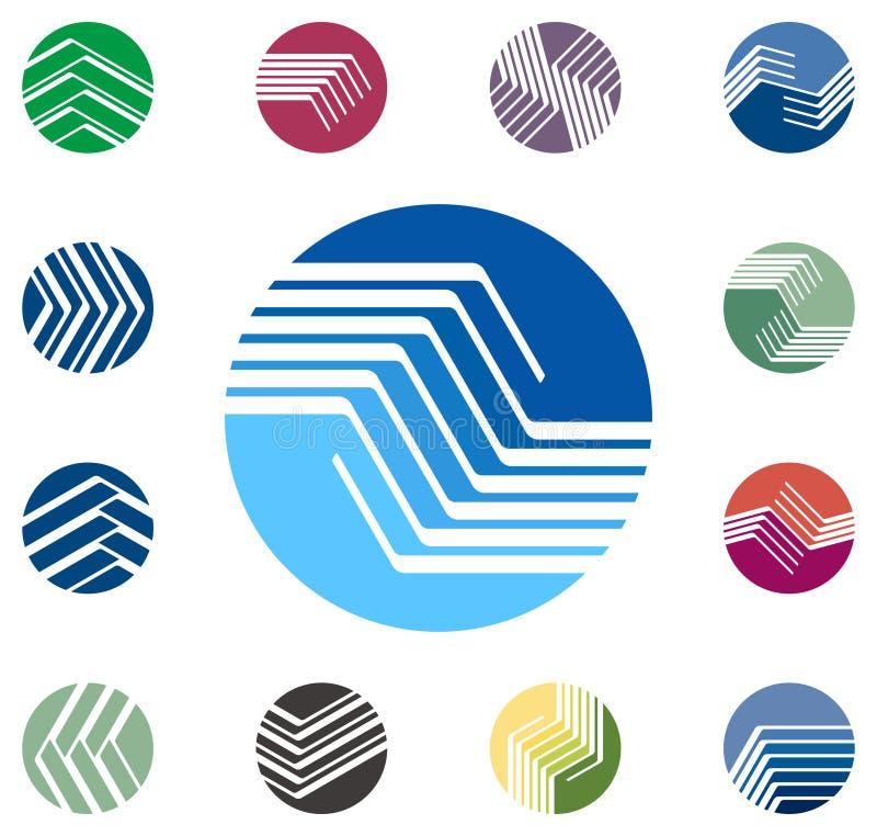 Molde Redondo Do Logotipo Do Vetor Do Projeto Imagens de Stock