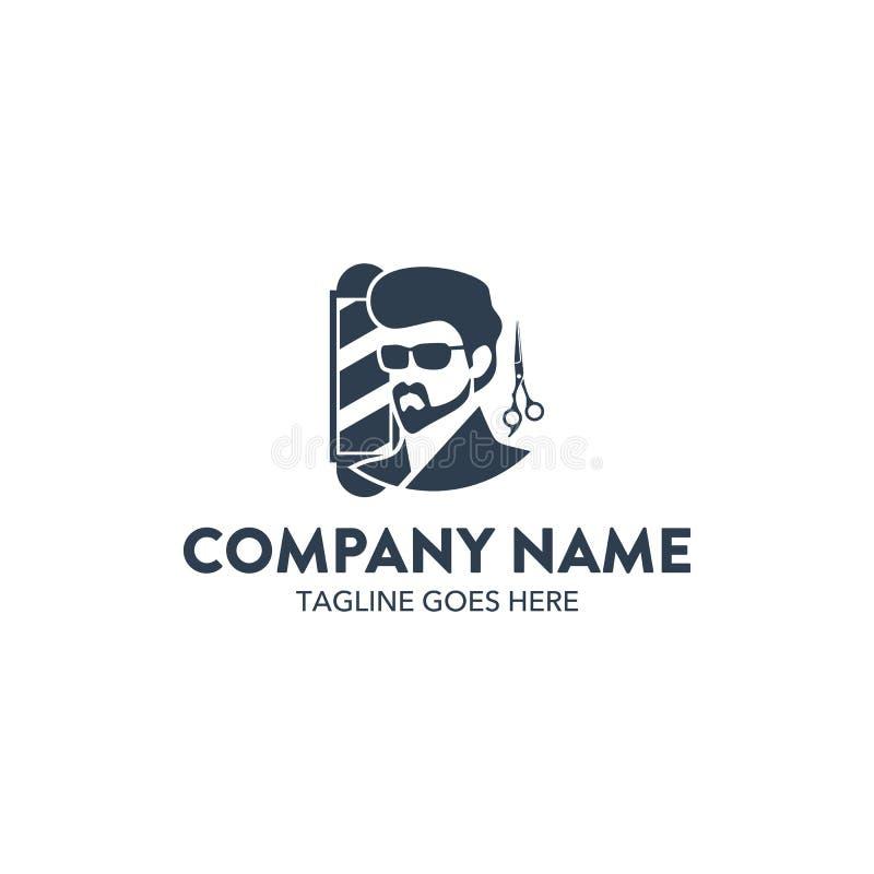 Molde relacionado do logotipo do barbeiro original Vetor editable ilustração royalty free