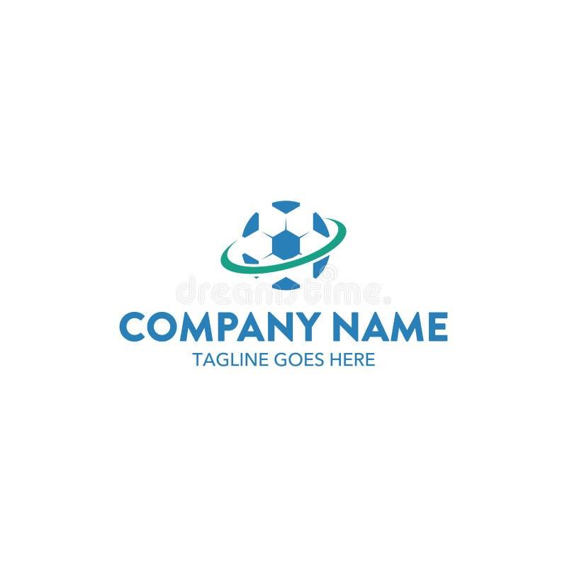 Molde relacionado do logotipo do futebol original do futebol Vetor editable ilustração stock