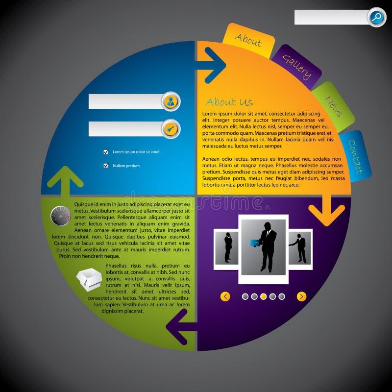 Molde rotateable novo fresco do Web site ilustração stock