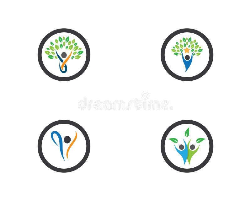 Molde saud?vel do logotipo da vida ilustração stock